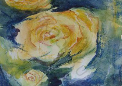 hommage to baselitz (2010) les roses jaunes